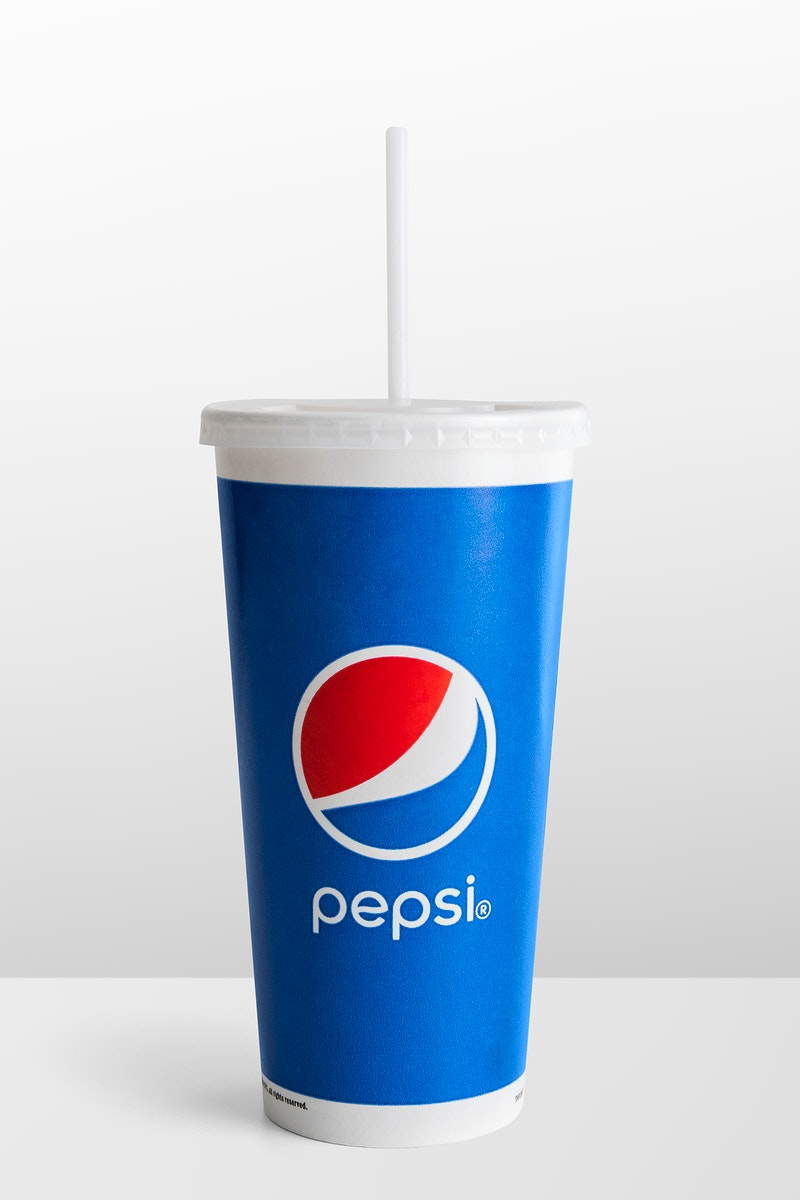Beverage in a disposable cup from Pepsi. JANUARY 29, 2020 - BANGKOK, THAILAND