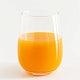 A glass of fresh organic orange juice