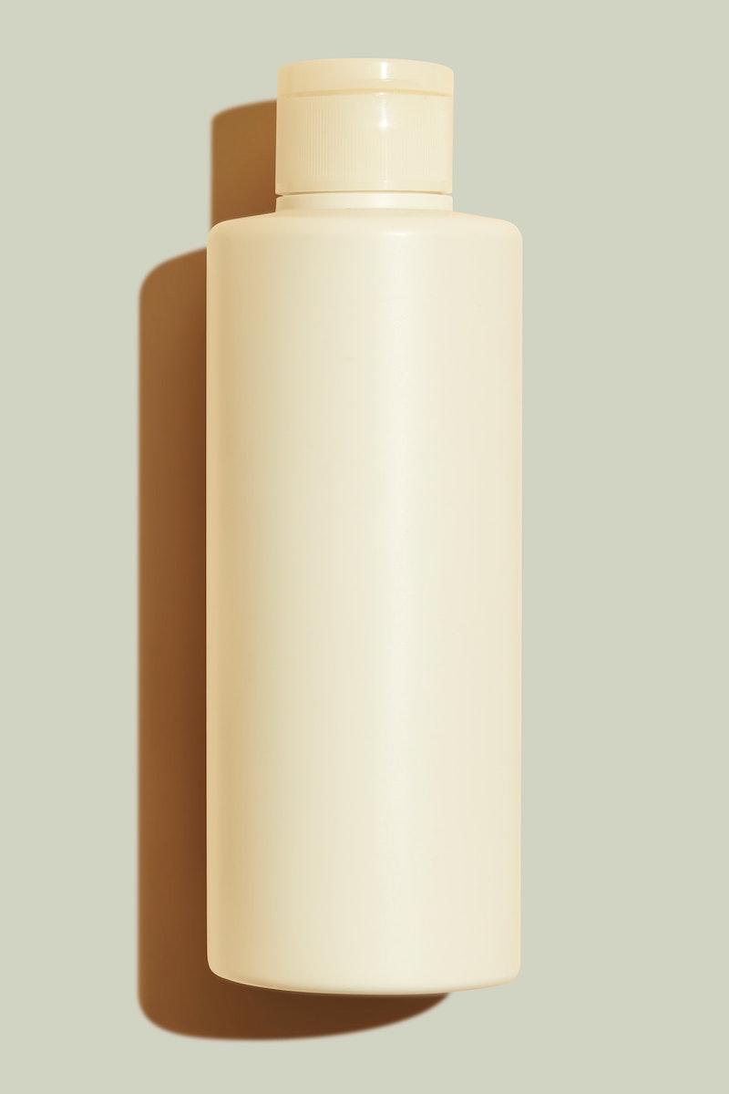 Beige beauty care bottle mockup
