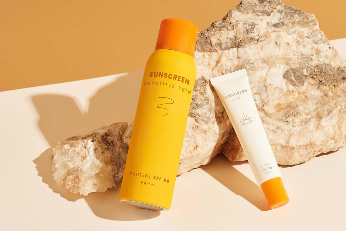 Sunscreen packaging product template design