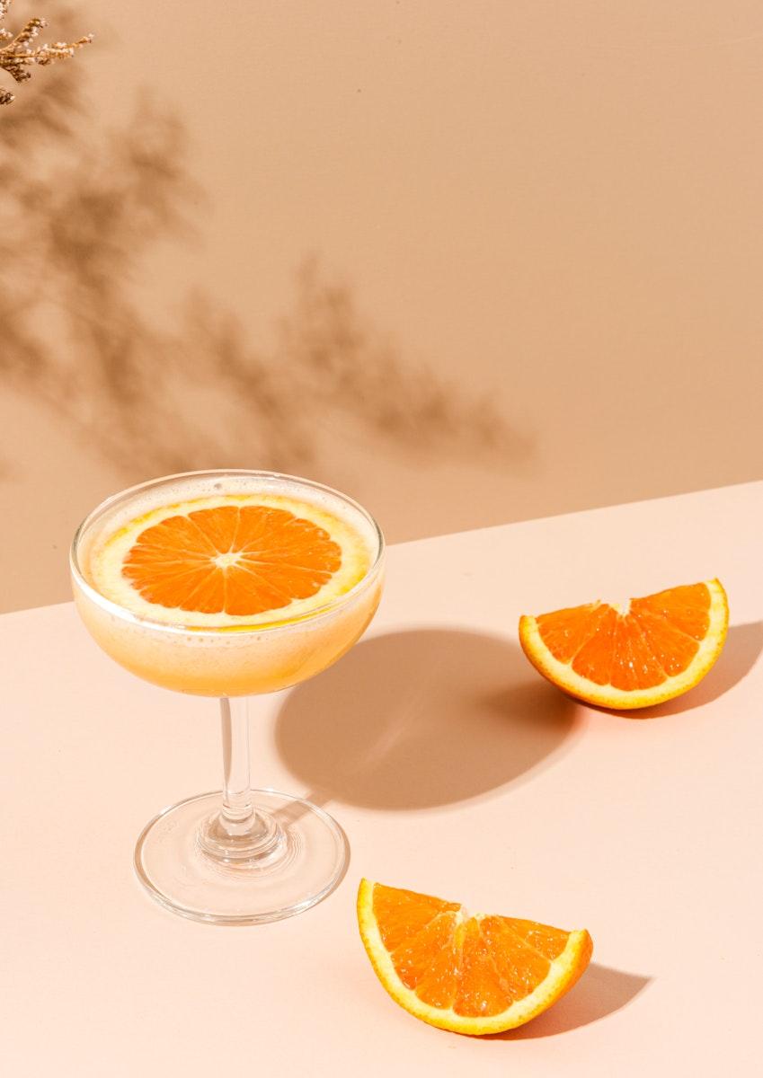 Fresh orange margarita cocktail