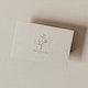 Beige blank botanical name card template