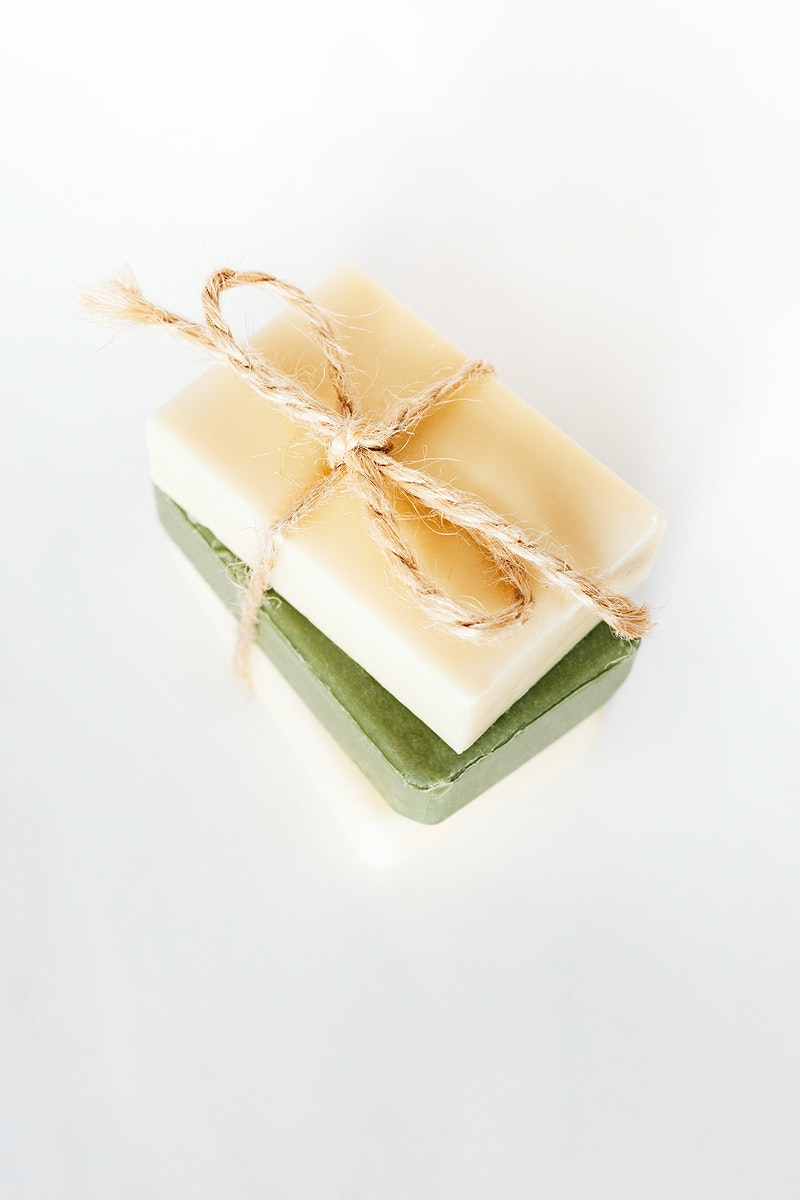 Stacked natural handmade soap bar collection