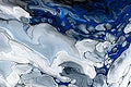 Blue marble swirl background abstract flowing texture experimental art