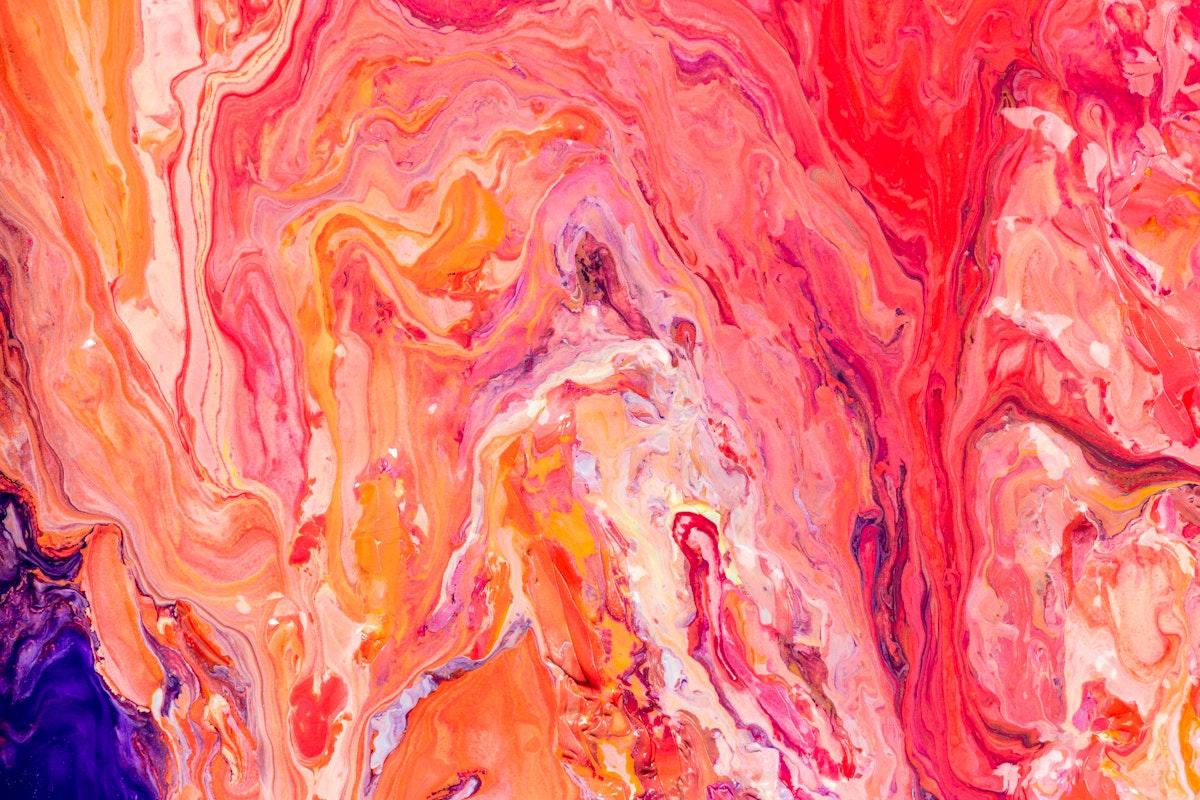 Aesthetic orange background handmade experimental art