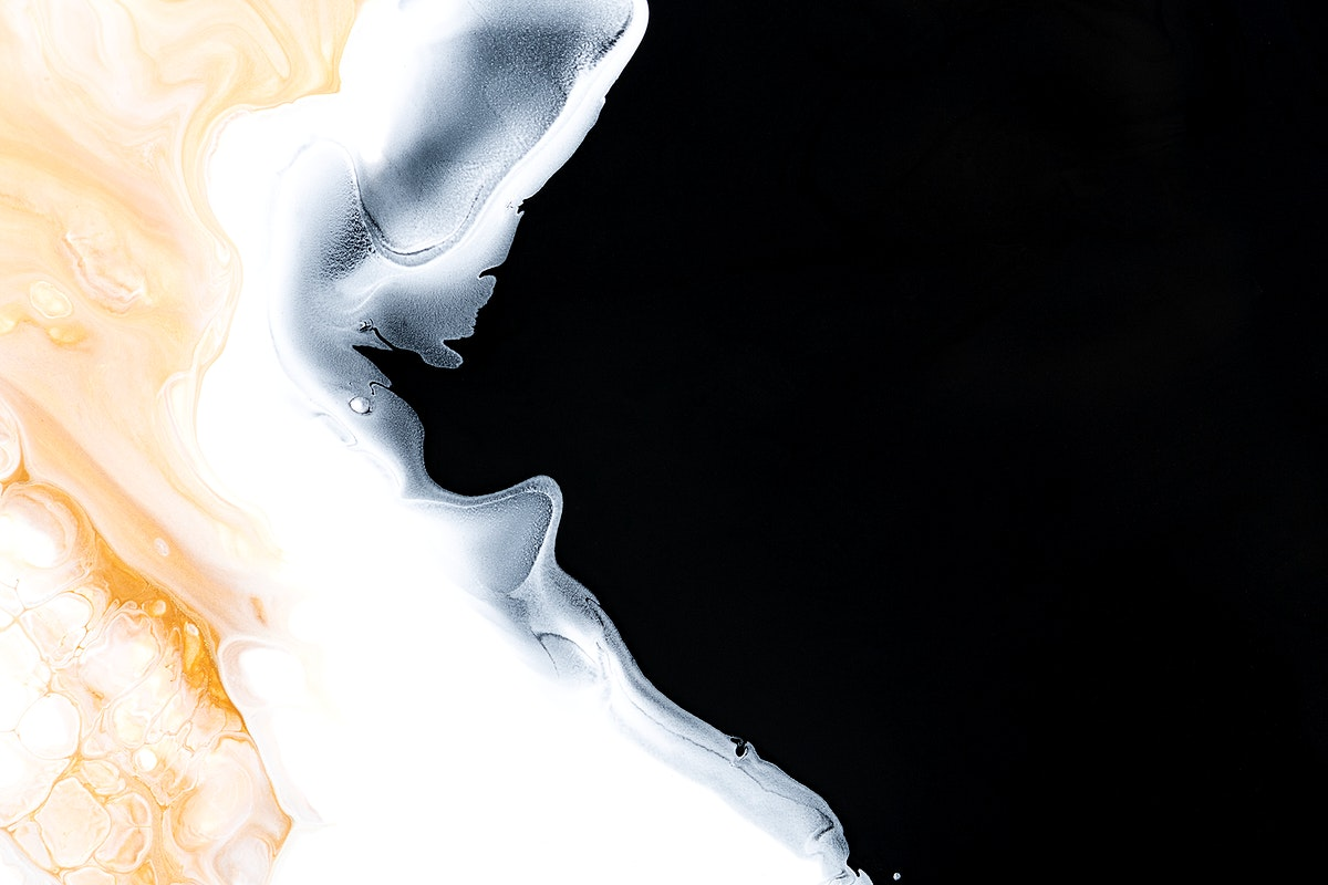 Black liquid marble background abstract flowing texture experimental art