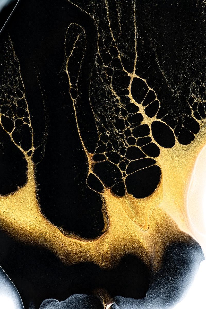 Elegant black background handmade experimental art