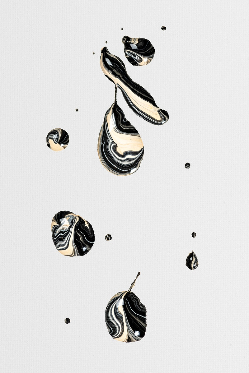 Black marble swirl background handmade aesthetic flowing texture experimental art