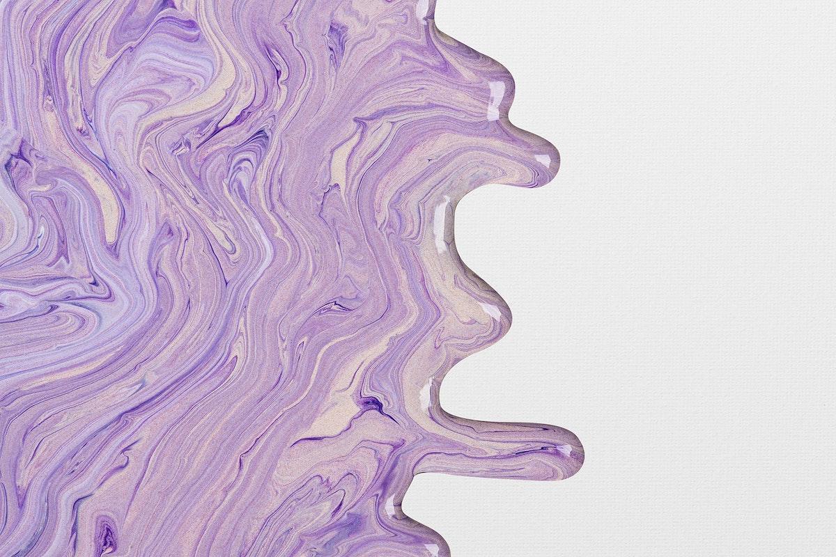 Liquid marble border psd purple DIY experimental art