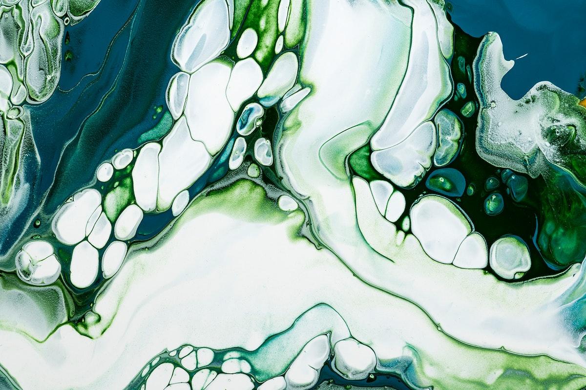 Green marble swirl background DIY flowing texture experimental art