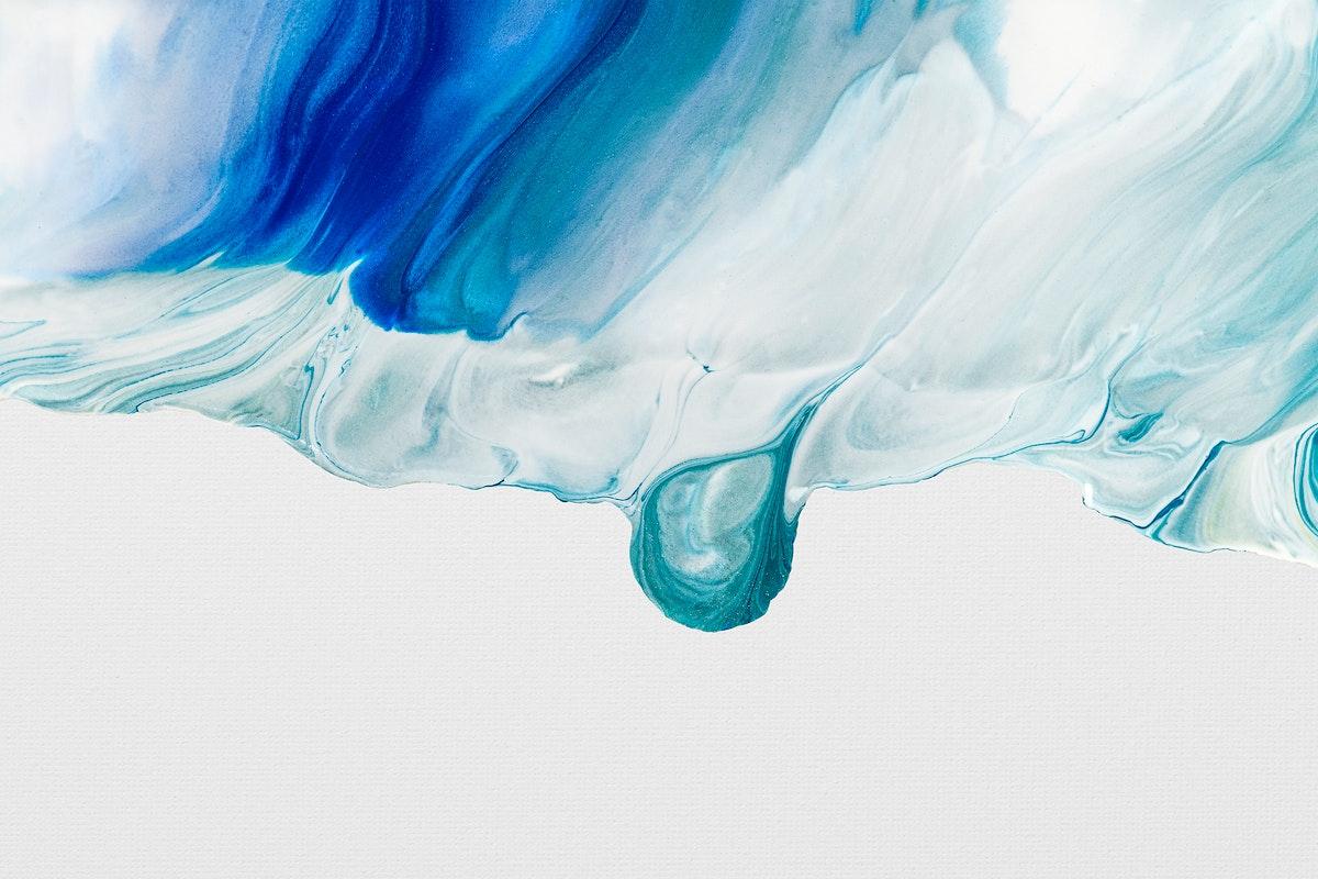 Blue marble art background psd handmade acrylic paint