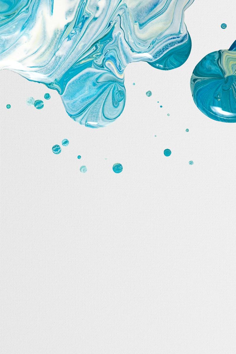 Aesthetic blue background psd handmade experimental art