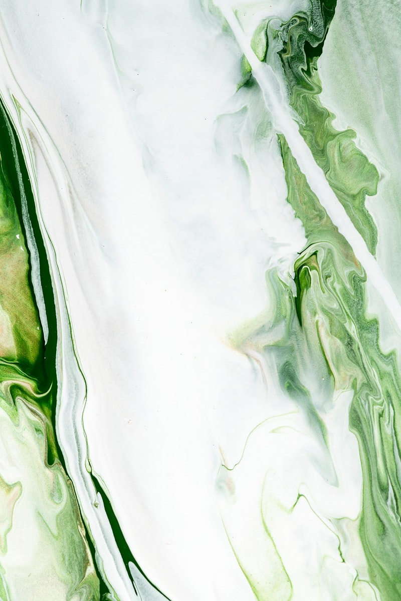 Green liquid marble background abstract flowing texture experimental art