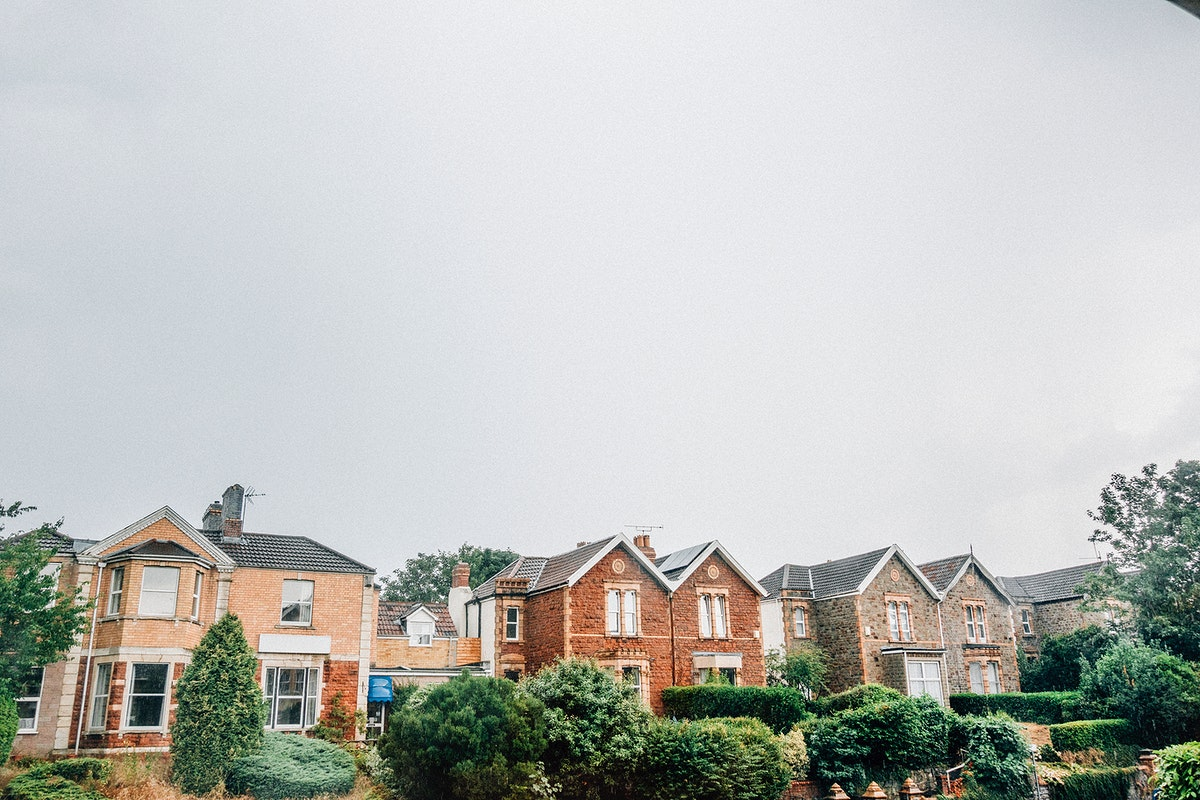 Row of houses in Bristol, England