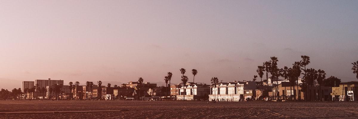 Purple skies in Venice beach