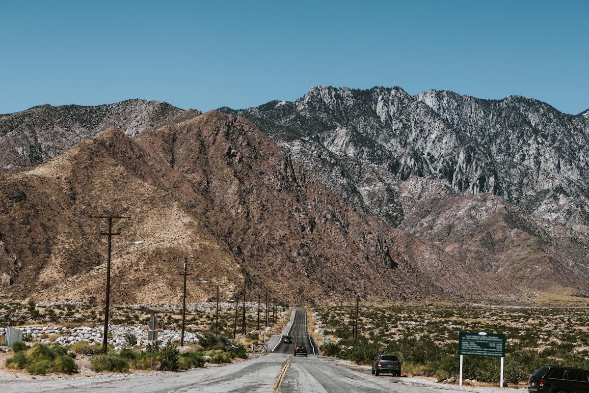 Road leading to the mountain range
