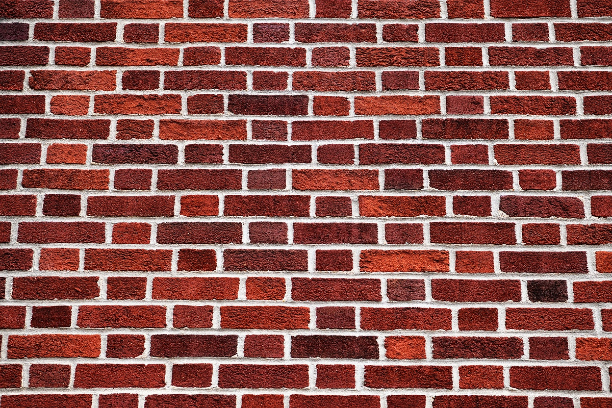 Red brick wall patterned background