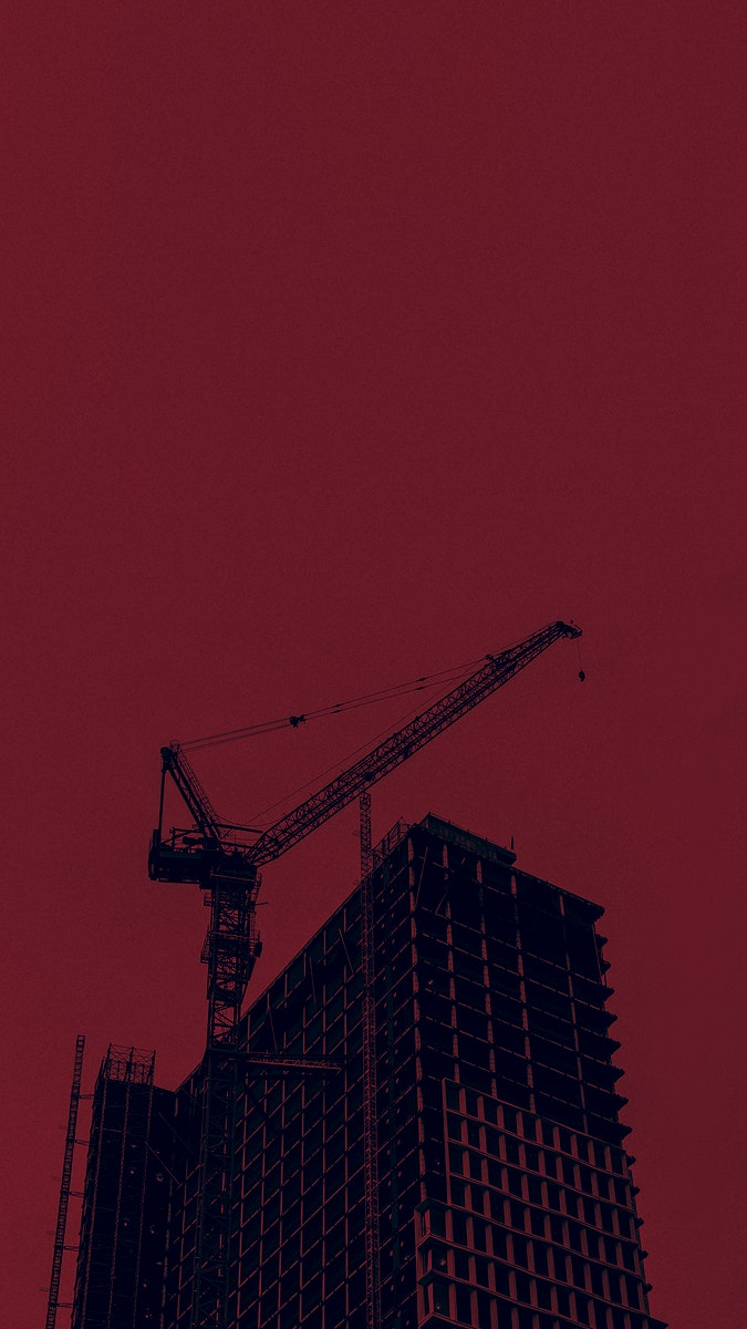Construction site in a city mobile phone wallpaper