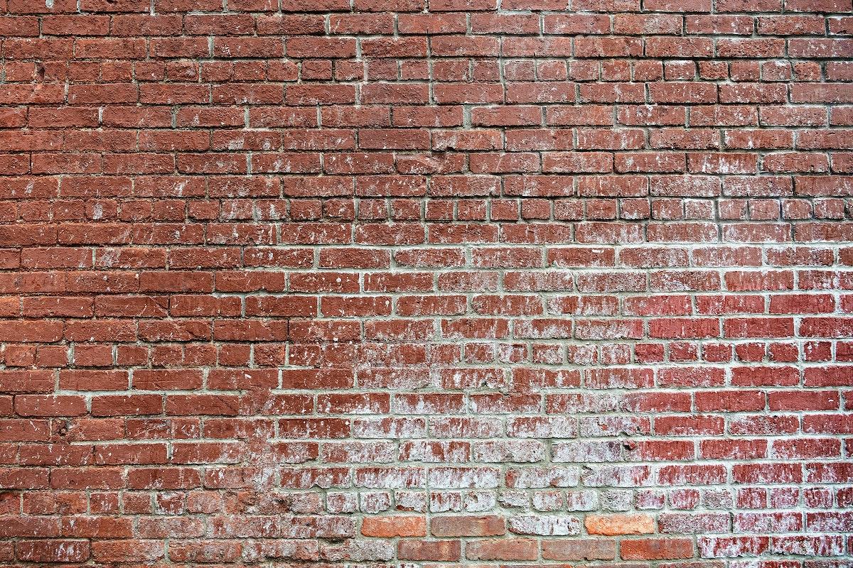 Grunge red brick wall background
