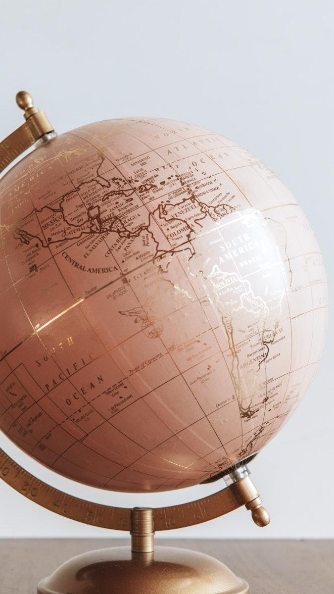 Pink globe sphere in a room mobile screen wallpaper