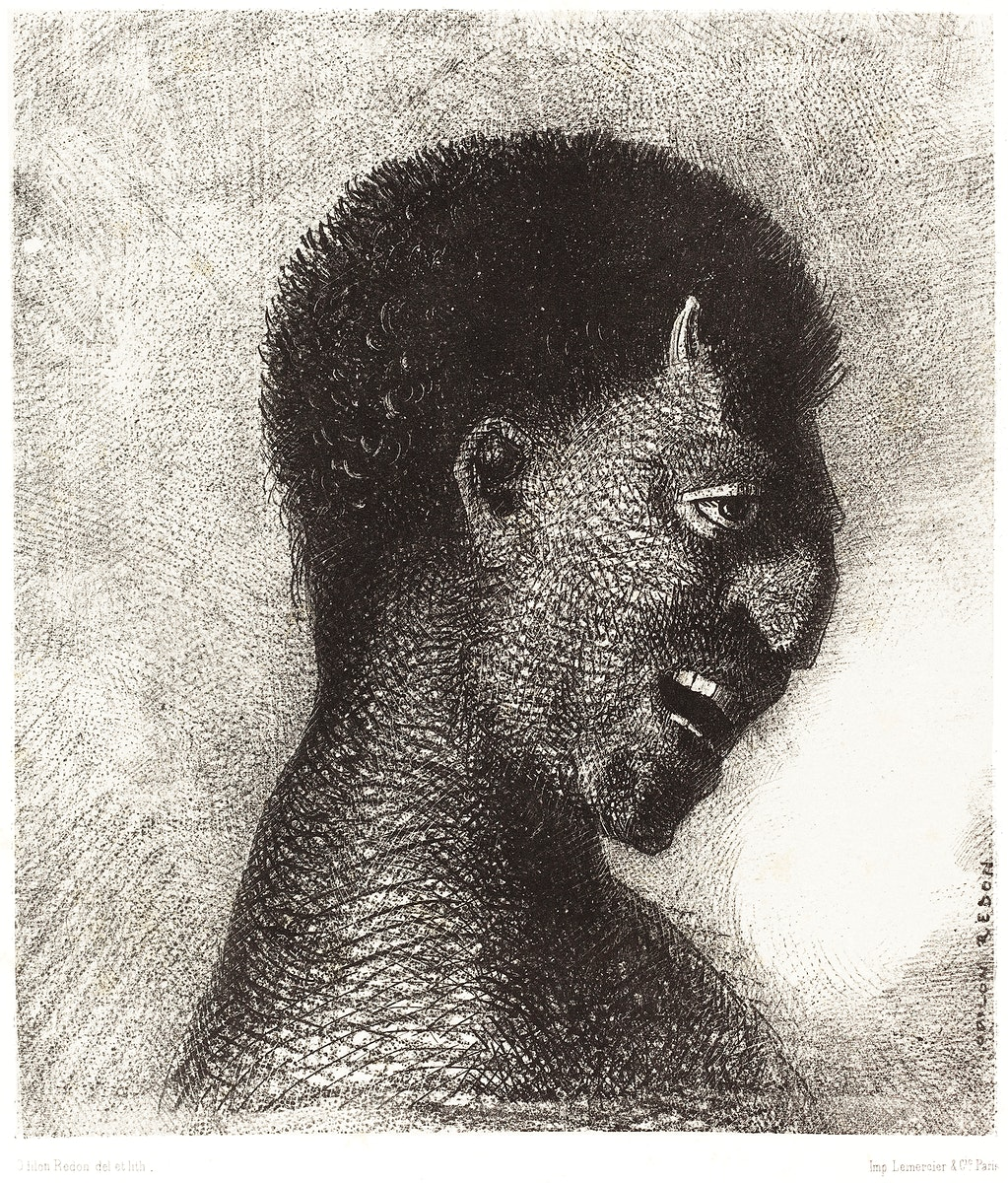 The Satyr with the Cynical Smile (1883) by Odilon Redon. Original from the National Gallery of Art. Digitally enhanced by…