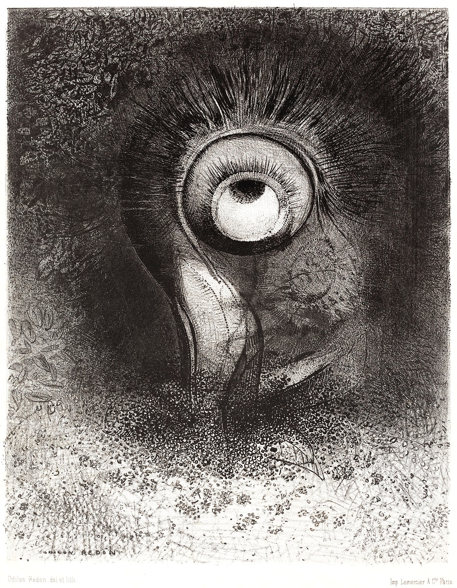 There Was Perhaps a First Vision Attempted by the Flower (1883) by Odilon Redon. Original from the National Gallery of Art.…