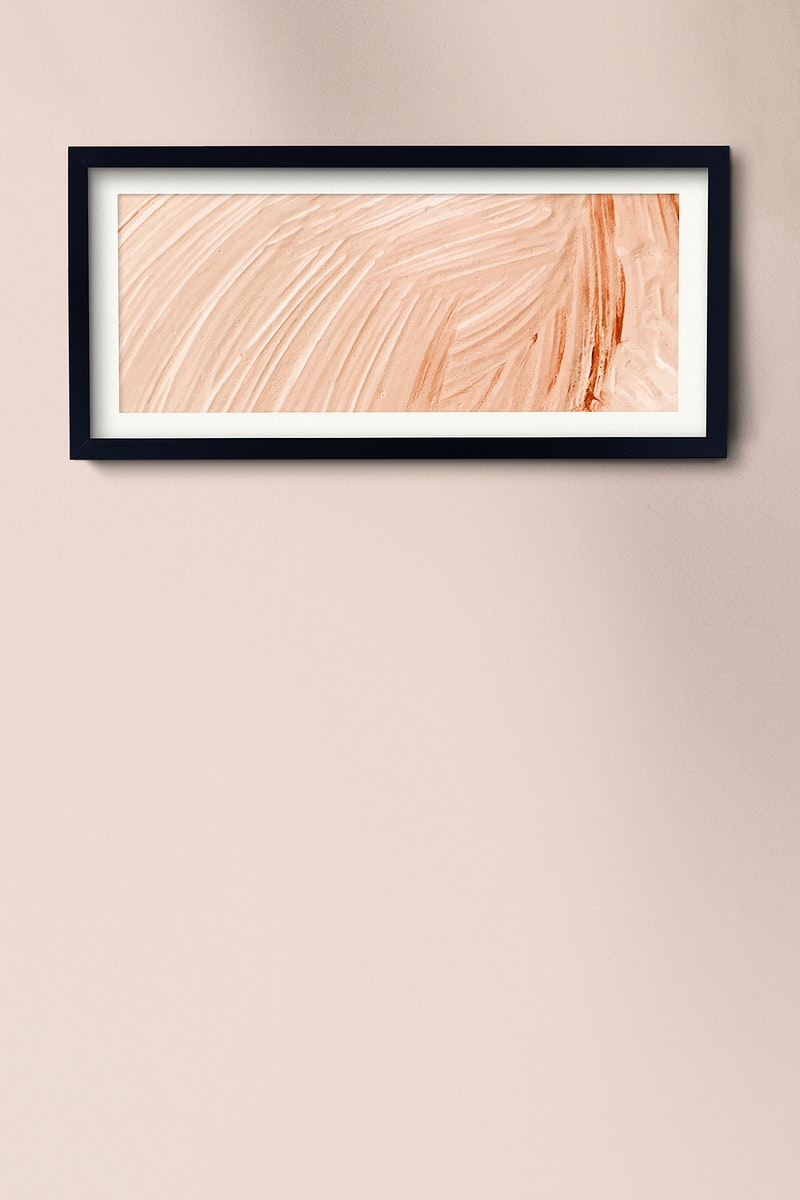 Picture frame hanging on a wall illustration