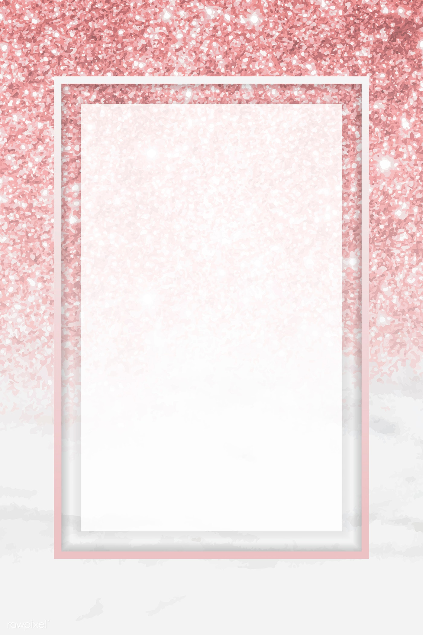 Pink glitter frame | Royalty free stock vector - 938052