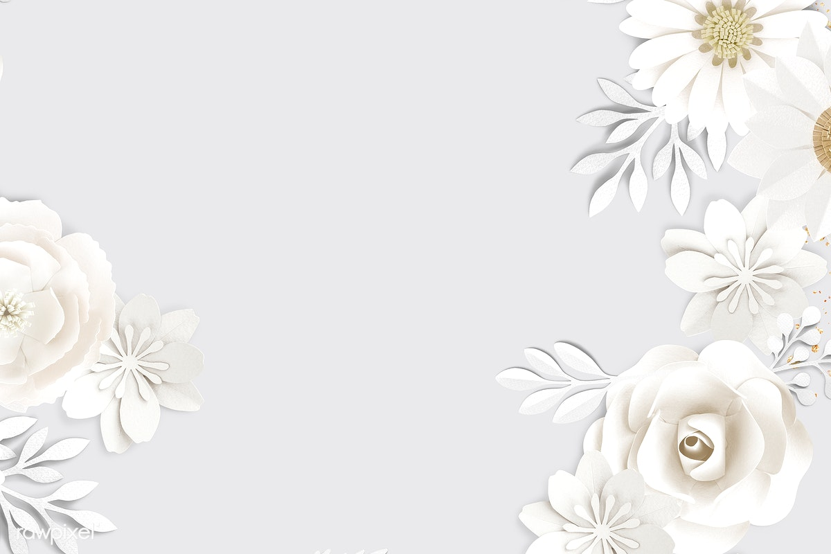 Download Premium Psd Of White Paper Craft Flower On Gray Background