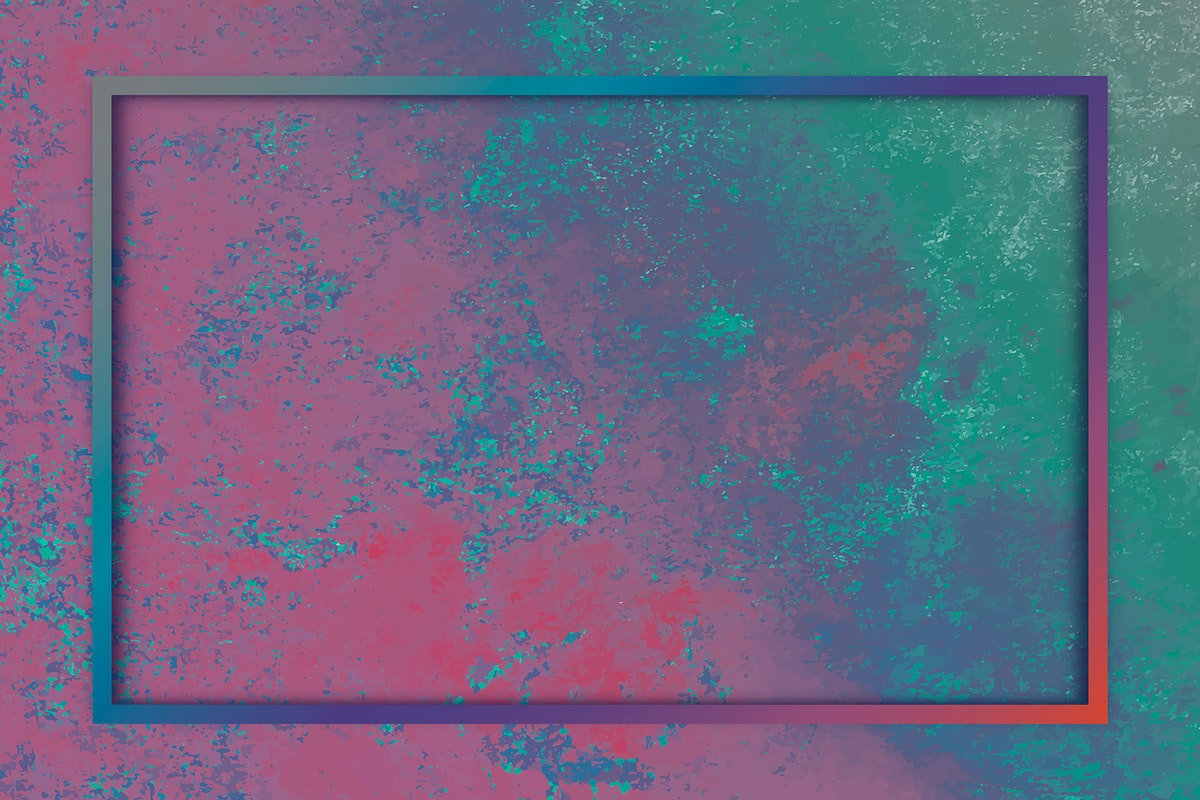 Rectangle frame on colorful background template vector