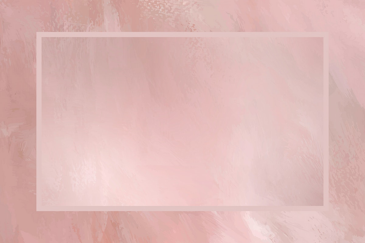 Rectangle frame on pink background template vector