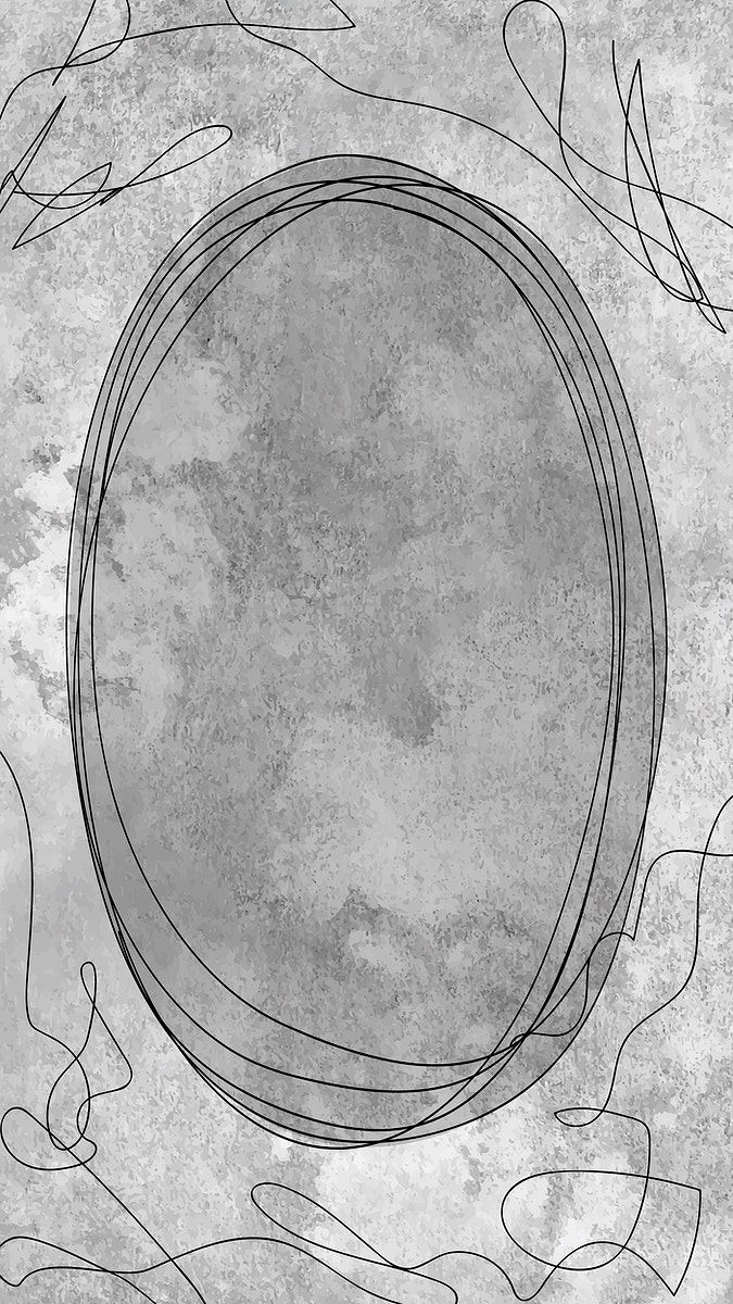 Oval frame on gray background vector