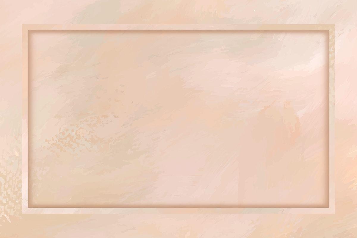 Rectangle frame on pastel orange background template vector