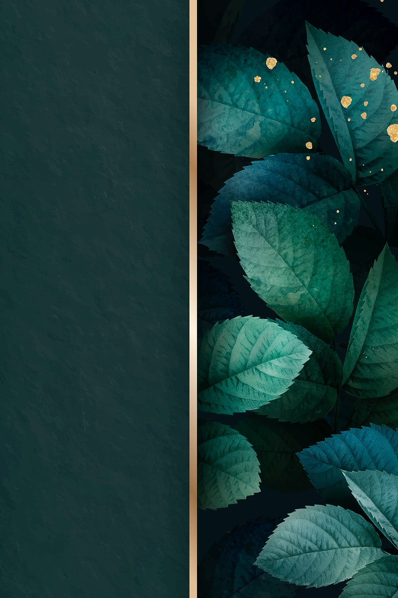 Green foliage pattern background vector