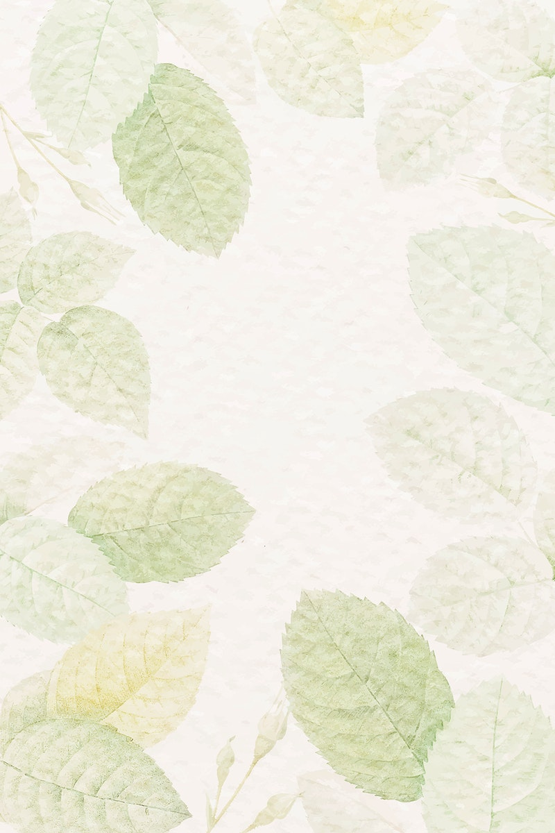 Green foliage patterned background vector