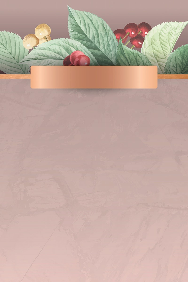 Hand drawn cherry pattern background vector