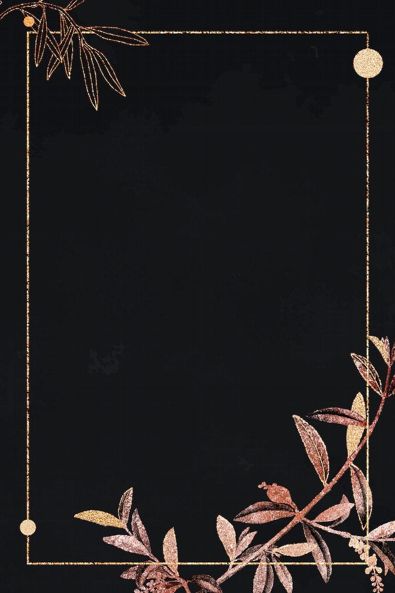 Blank shimmering golden frame vector