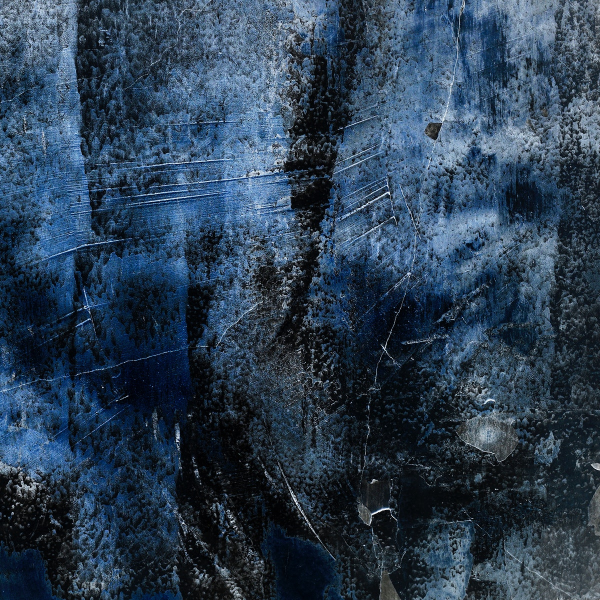 Cracked rustic blue concrete textured background