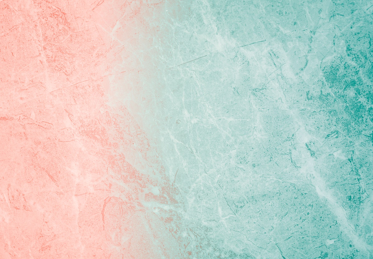 Coral and sea-grass colored cement texture background