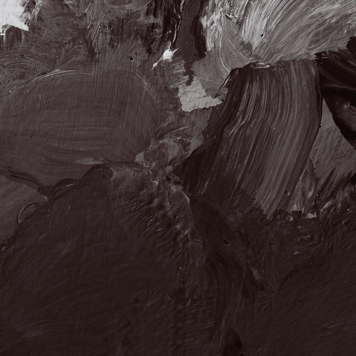 Black brushstroke textured background