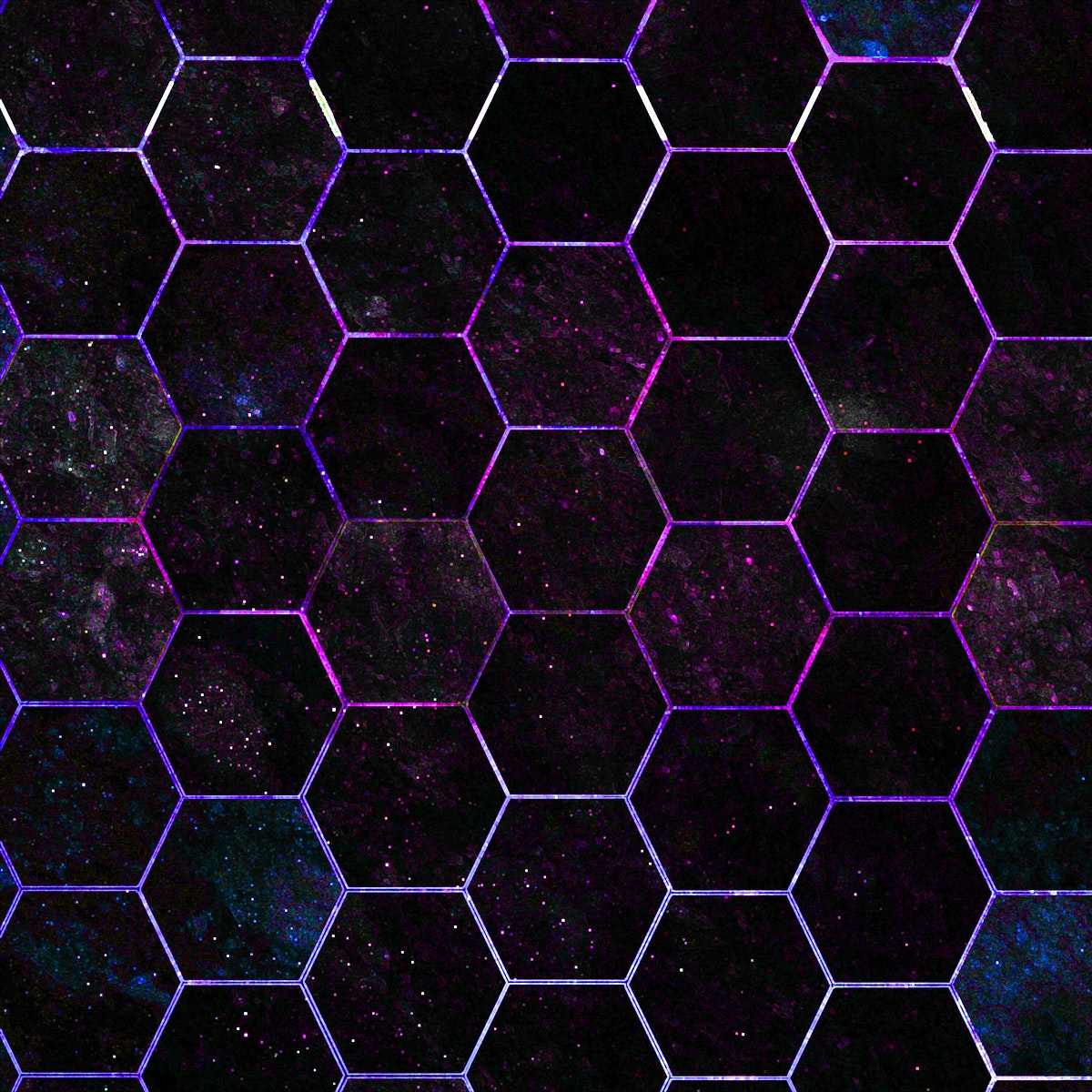 Hexagon black marble tiles patterned background