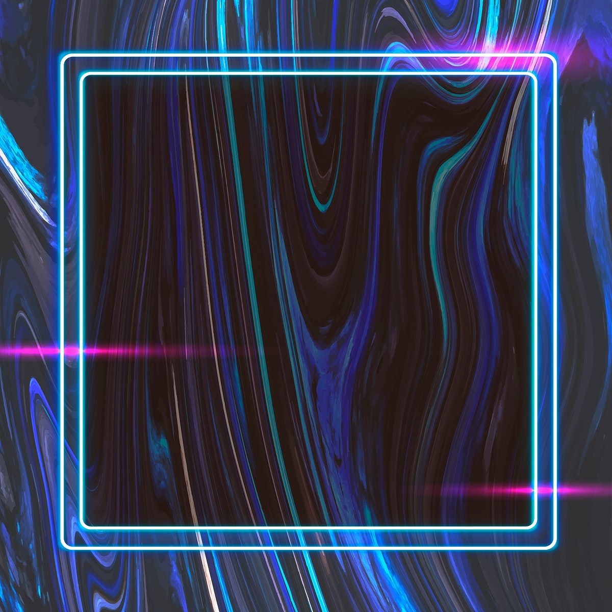 Square frame on abstract background vector