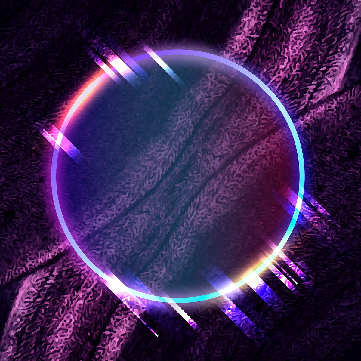Round frame on abstract background vector