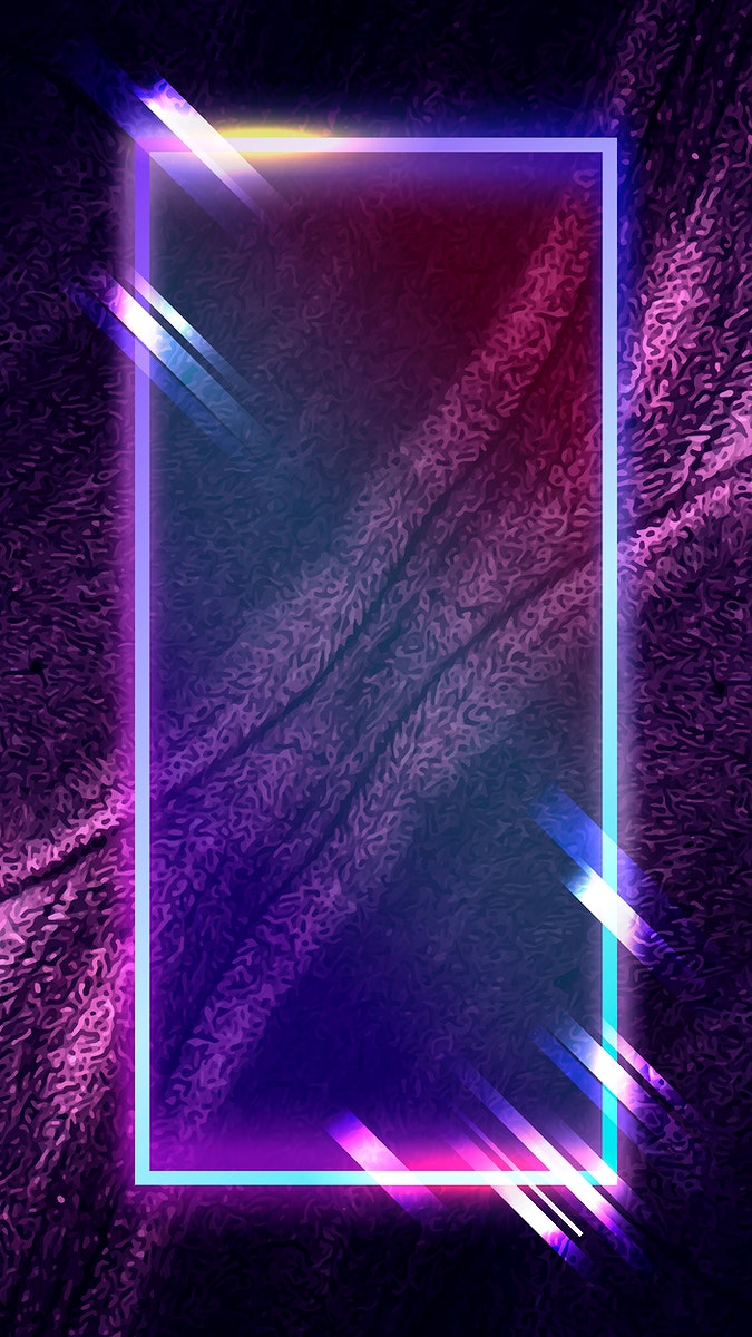 Rectangle frame on abstract mobile phone wallpaper vector