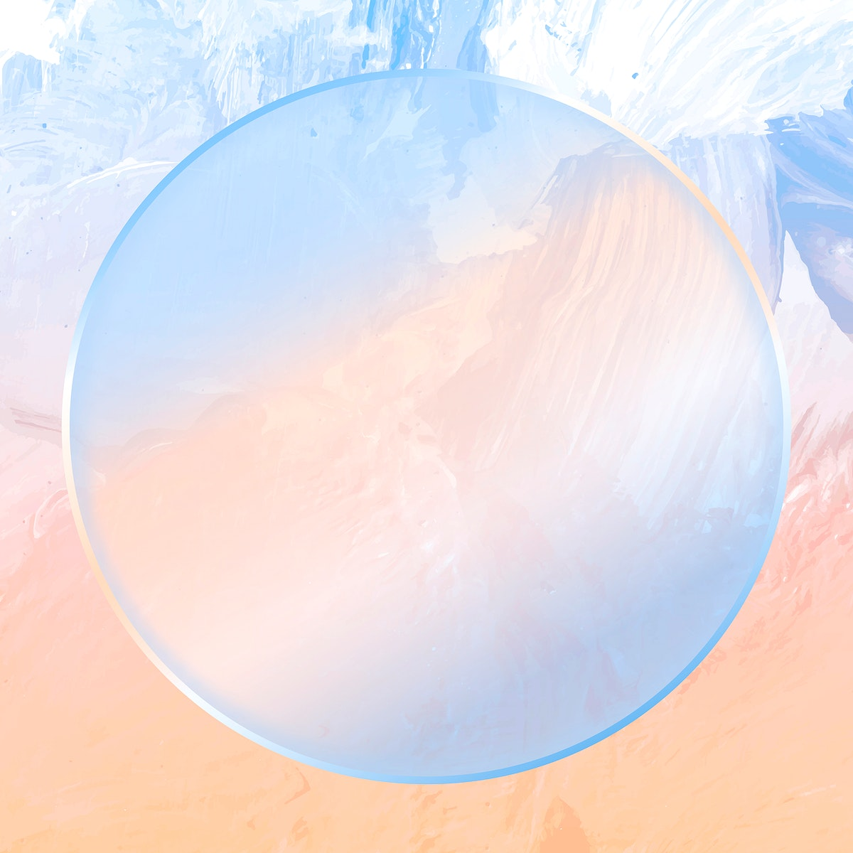 Round blue frame on abstract background vector