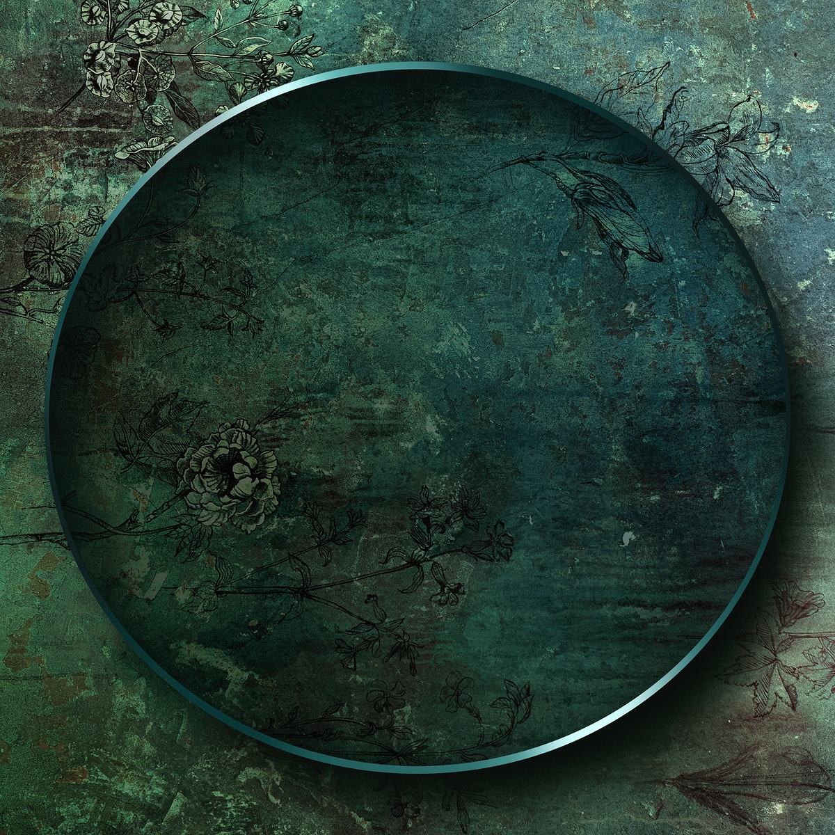 Oval frame on abstract background illustration