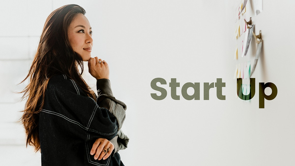 Woman planning a strategy for a start up