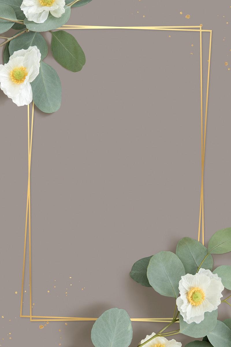 Golden rectangle Cherokee rose frame
