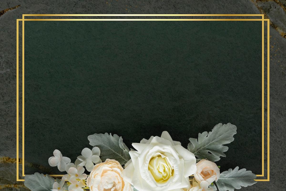 Golden rectangle floral frame design