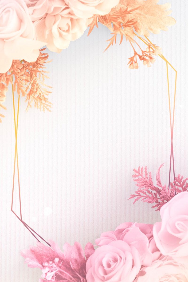 Blank golden floral frame design